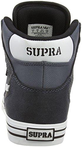 Supra VAIDER - zapatillas deportivas altas de piel Unisex adulto gris - Grau (CHARCOAL / WHITE - WHITE   CHR)