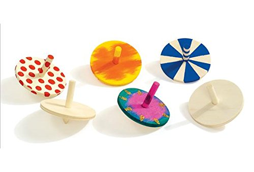 Colorations Whirl Whirling Wooden Tops (Pack of 24)