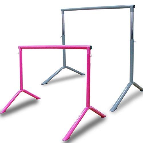 Barre Workout Portable Freestanding Adjustable Stretch Dance Bar Pink ()