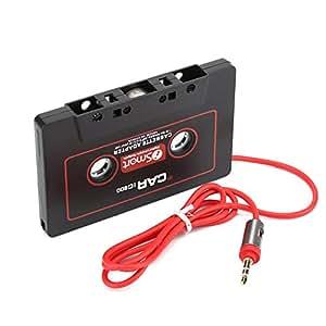 dubens Cartuchos adaptador–Auto Radio Adaptador AUX Coche Clavija de 3,5mm para Smartphones, Tabletas, Discman, reproductor de CD, reproductor de mp3, uwm.–Negro