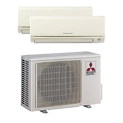 Mitsubishi MXZ2B20NA12004 - 18,000 BTU MR SLIM Dual-Zone Wall Mount Mini Split Air Conditioner Heat Pump 208-230V (9-9)