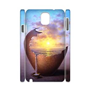 LEMON Fantasy illustration Unique Cool Painting Phone 3D Case For Samsung Galaxy note 3 N9000 [Pattern-1]