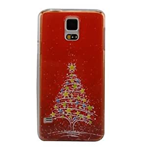SHOUJIKE Beautiful Christmas Tree Plastic Hard Back Cover for Samsung S5 I9600