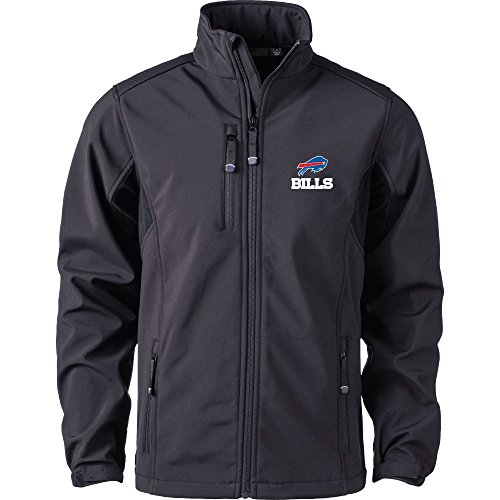 Dunbrooke Apparel NFL Buffalo Bills Men's Softshell Jacket, 3X, Black
