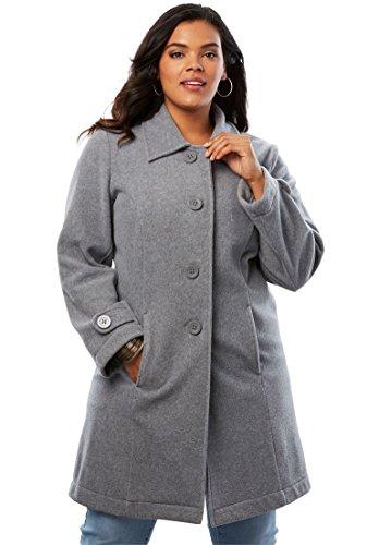 Roamans Women's Plus Size Plush Fleece Jacket -