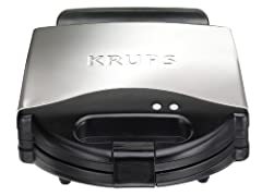 Inspired by professionals and designed for connoisseurs, KRUPS products have been built with three key attributes in mind: Passion, Precision and Perfection. The sleek, stainless steel finished KRUPS 654-75 Waffle Maker makes four delicious B...