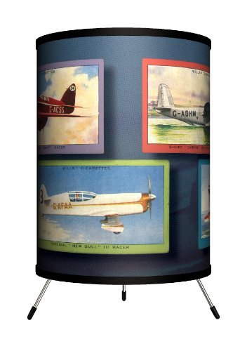 Lamp-In-A-Box TRI-TTN-VAIRP Transportation – Vintage Airplanes Tripod Lamp