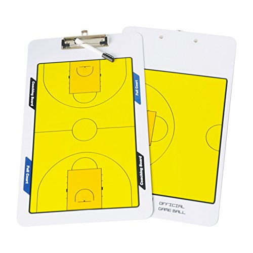Navadeal Double Erasable Sided Erase Basketball Coaching Board Clipboard