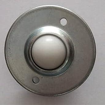 Puuli 15pcs 5//8 22-33lbs Nylon Universal ball 2 Holes Silver Tone Metal Base Ball Transfer Unit UFO Type Bearing Mounted Bearing Transfer Bearings