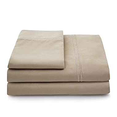 LINENSPA 600 Thread Count 100% Egyptian Cotton Deep Pocket Sheet Set - Cal King - Tan