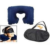 Bazaar Reise Nackenkissen Kissen aufblasbare Luft mit Auge Maske Ohrstöpsel zum schlafen