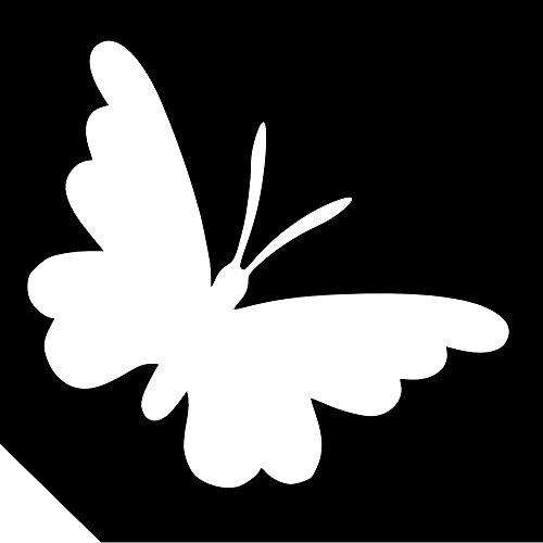 25pc. Glitter Tattoo Stencil - Simple Butterfly ~ Single Use/Self Adhesive for $<!--$8.99-->