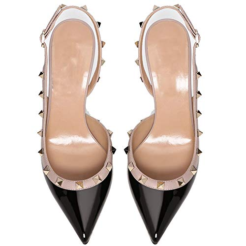 e3f81974064a9 Ayercony Rivets Studded Sandal, Woman's Pointed Toe Sandals High ...