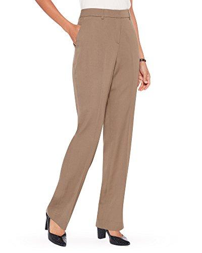 Pendleton Women's Seasonless Wool Straight Leg Pants, Truffle, ()