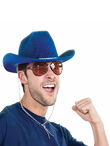 Forum Novelties Blue Cowboy Deluxe Hat