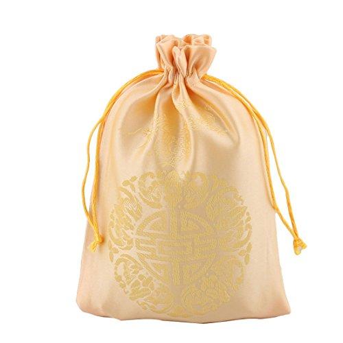 Amazon.com: eDealMax Lazo de la boda de sellado Material de Caramelo Bolsa de la joyería 25pcs monedero del brocado Bolsa de Regalo Dorado: Health ...