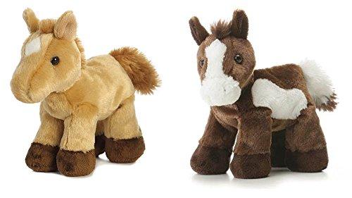 "Aurora Paint Plush Horse & Prancer Red Roan Horse Mini Flopsie 8"" Bundle from Aurora"