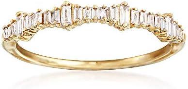 Ross-Simons 0.20 ct. t.w. Baguette Diamond Ring in 14kt Yellow Gold