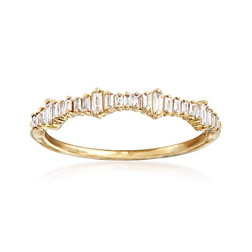 Ross-Simons 0.20 ct. t.w. Baguette Diamond Ring in 14kt Yellow Gold ()