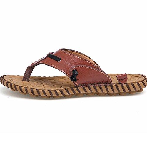 Sandali Di Tendenza Sandali Di Tendenza Di Marca Maschile Estate Nuovo 2016 Sandalo Da Spiaggia In Vera Pelle Marrone Sandalo