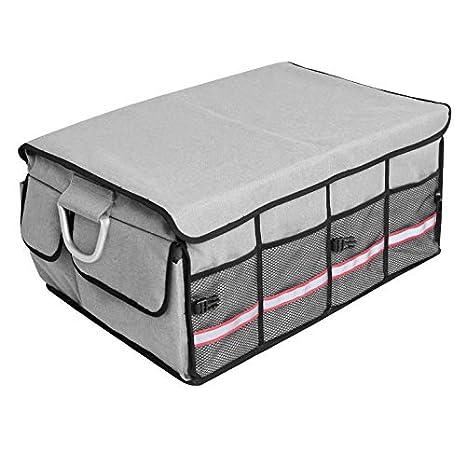 YWJ Organisateur de Coffre de Voiture Solide avec Housse Pliable, conteneur de Transport Pliable et Solide, bac de Rangement Portable et Support pour Voiture, imperméable