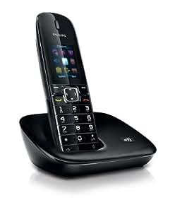Philips CD680 - Teléfono inalámbrico, color negro