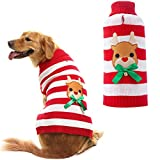 Orangexcel Dog Knitted Sweater Cute Reindeer Xmas Holiday for Puppy Pet Large