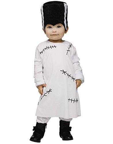 Fun World Lil Frankenstein's Bride Infant Costume White/Black -