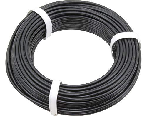 Donau Elektronik 2501filo di PVC, nero, 25m