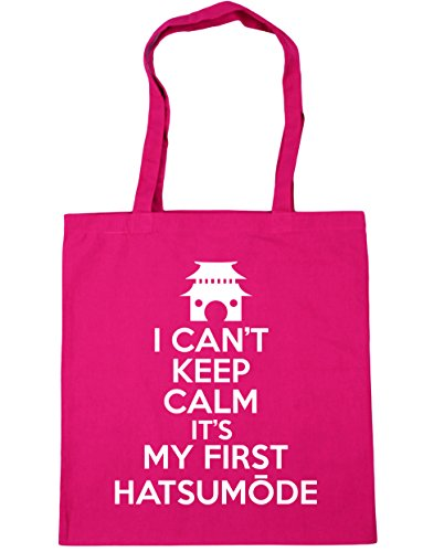 HippoWarehouse no puedo Mantener la calma es mi primera hatsum? De Bolsa De La Compra Bolsa de playa 42cm x38cm, 10litros fucsia