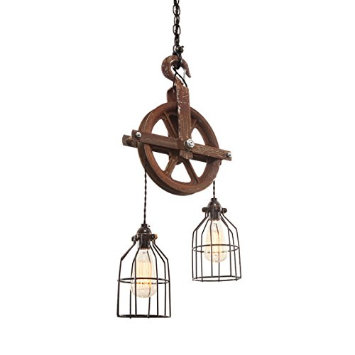 - West Ninth Vintage Iron Barn Pulley Light | Perfect for All Rustic Home Décor | Rusted Patina