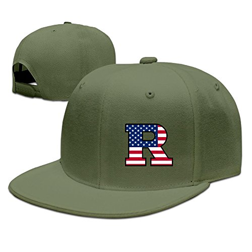 JAX D Custom Rutgers Flag University Casual Baseball CapHat ForestGreen