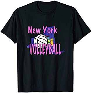Cool Gift New York volleyball t-shirt for New York volleyball fans Women Long Sleeve Funny Shirt / Navy / S - 5XL