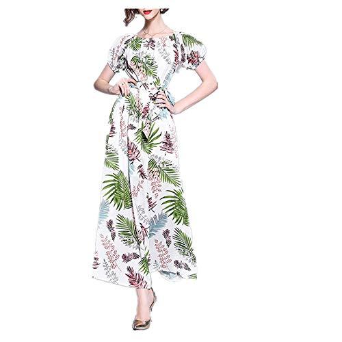 impresión Ropa Palabra White de M Vestido Size Deja una Vacaciones de Isbxn White Color Mujer de Collar dYxq8xvaA