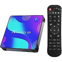 X88 Pro X10 Android 10.0 TV Box, 4 GB RAM 64 GB ROM RK3318 Quad-Core 64 bit Cortex-A53 ondersteunt 2.4/5.0 GHz Dual Band…