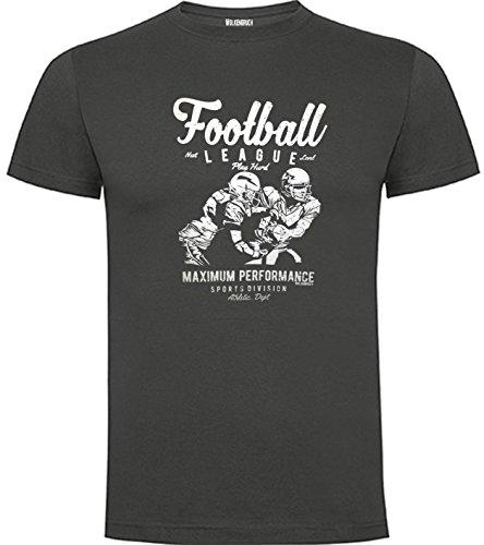 Wolkenbruch T-Shirt Football American, grapitgrau, Gr.S