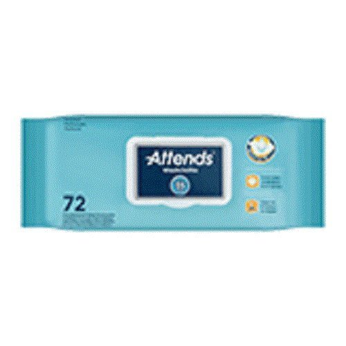 Attends Pre-moistened Adult Washcloths 72 Count (Large 8.7