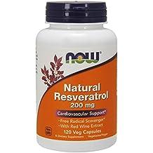 NOW Natural Resveratrol 200mg, 120 Veg Capsules
