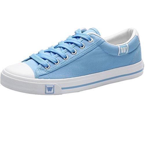 uomo Espadrillas Blue tela Blue casual di di da tendenza Scarpe coreano YaNanHome Size uomo in Color 38 da stile basse Scarpe scarpe vCnwdq