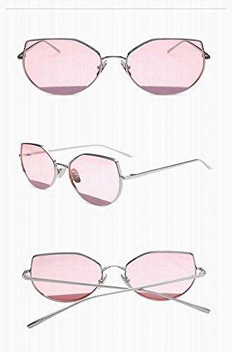 del Marco Las Gafas wei de Gafas Sol Negro Ojo Un Femeninas Rosado Sol metálico Gato de Tamaño del de de wIzq7IrWB