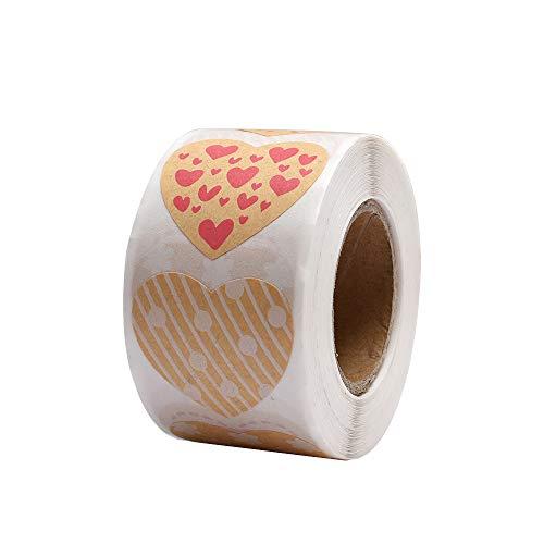 Valentine's Day Heart Stickers 1.5