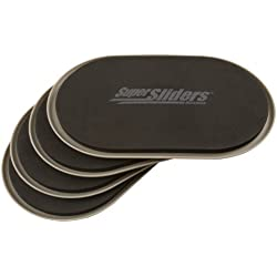 """Reusable Furniture Movers for Heavy Furniture for Carpeted Surfaces (4 Pack) - Oval SuperSliders, 9-1/2"""" x 5-3/4"""""""