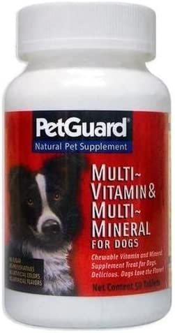 Pet Guard Multi-Vitamin Minerals for Dogs – 50 Tablets, 4 pack