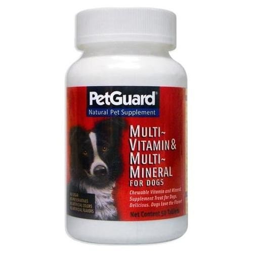 Pet Guard Multivitamin and Mineral Dog Tablet - 50 per pack - 6 packs per case.