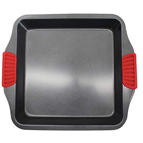 1 Pcs Square Binaural Baking Roasting Roaster Tray With Silicone Handle.