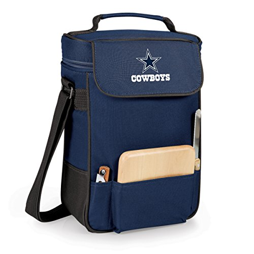 PICNIC TIME NFL Dallas Cowboys Duet Insulated 2-Bottle Wine and Cheese Tote For Sale