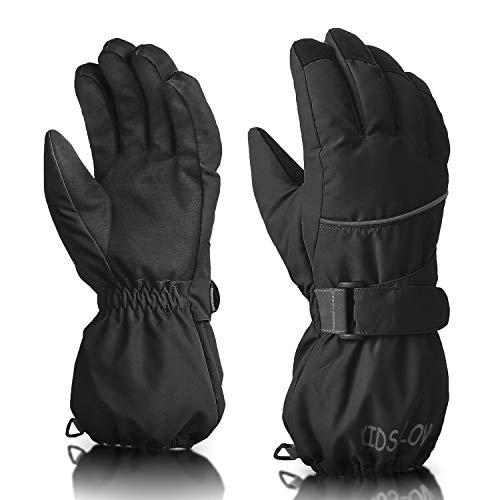 ThxToms Kids Warm Gloves Winter Waterproof Snow Gloves for Ourdoor Sports, Toddler Bulky Ski Gloves for Boys Girls