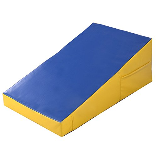 Goplus Gymnastics Mat Incline Wedge Ramp for Tumbling Aerobic Exercise Home and Gym