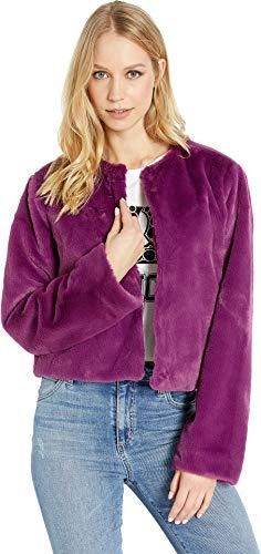 Juicy Couture Women's Faux Fur Jacket Purple Orchid X-Large ()
