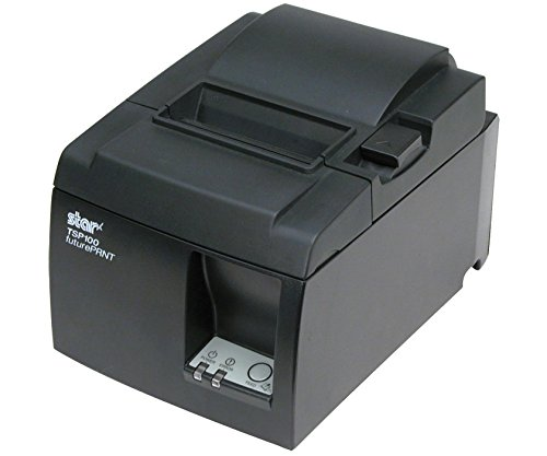 Star Micronics TSP143U Thermal Receipt Printer - Auto-Cutter, USB, Color: Gray (Includes USB Cable and Internal Power Supply) (154996A)